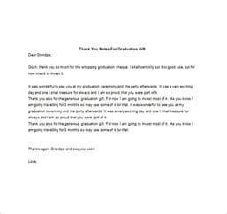 graduation thank you note 8 free word excel pdf
