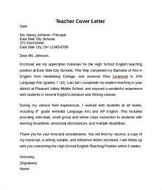 Cover Letter Teaching – Cover Letter Example: Resume Cover Letter Examples Teacher