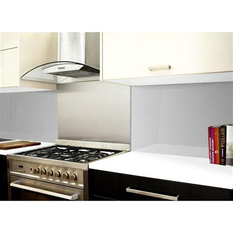 Bunnings Splashbacks For Kitchens by Highgrove 1200 X 575 X 6mm Silver Metal Glass Splashback I