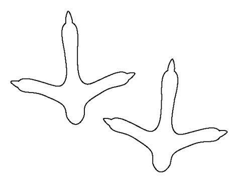 printable turkey toes turkey feet pattern use the printable outline for crafts