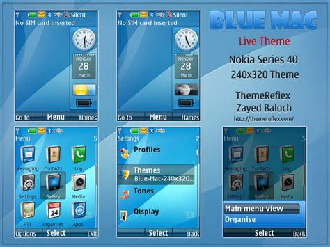 nokia x2 watch themes blue mac live theme for nokia x2 240 215 320 themereflex