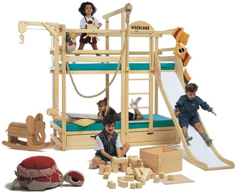 Play Bunk Bed Play Bunk Beds For Large Families From Woodland Kidsomania
