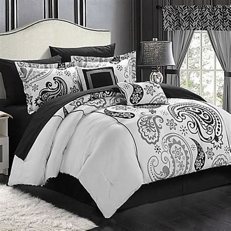 20 piece bedding set buy chic home olivia paisley 20 piece reversible queen