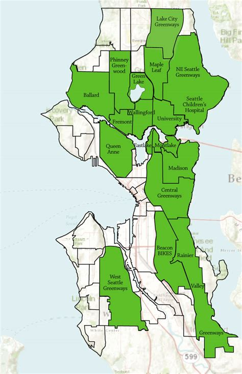 seattle map by neighborhood find your neighborhood seattle neighborhood greenways