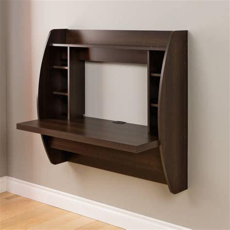 shop prepac furniture espresso wall mounted desk  lowescom