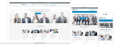Hrms Human Resources Service Template Template Feature Page Hrms Web Templates