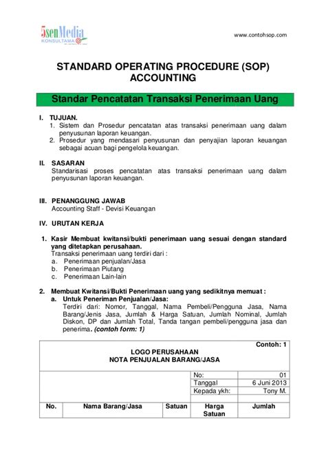 accounting sop template contoh sop bagian ppic production planning and inventory