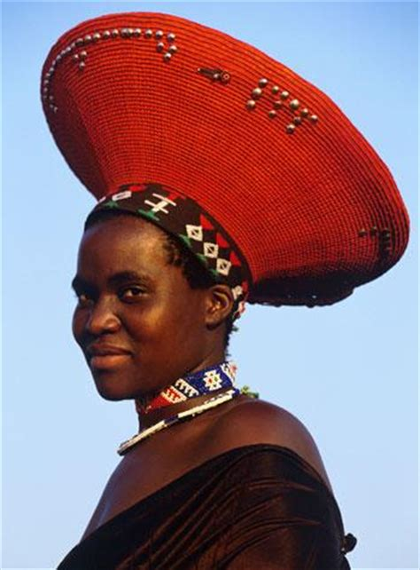 South African Zulu Hat | africa zulu woman wearing her traditional hat http