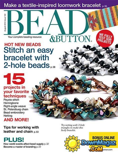 bead button magazine bead button august 2014 187 pdf magazines