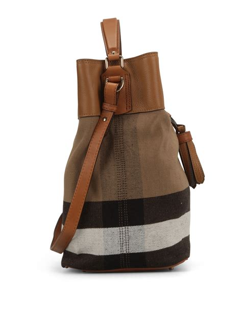 Burberry Canvas Shoulder susanna canvas check hobo bag by burberry shoulder bags ikrix