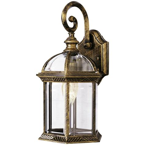 wall lantern outdoor lighting trans globe lighting 1 light outdoor black and gold wall