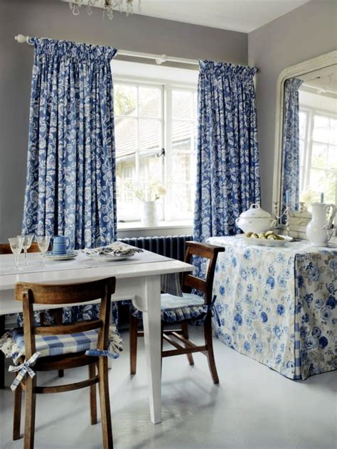 cozy dining room cozy dining room with accessories blue floral pattern