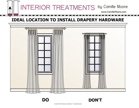 how high should curtain rods be above window design dialogue september 19 2013 a little design help