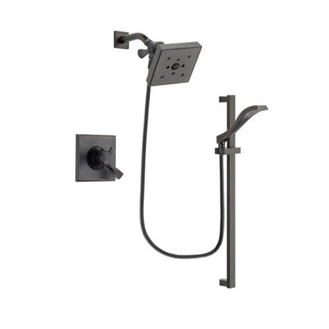 Delta Dual Shower System by Delta Dryden Venetian Bronze Finish Dual Shower