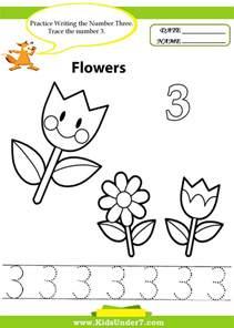 kids under 7 number tracing 1 10 worksheet part 1