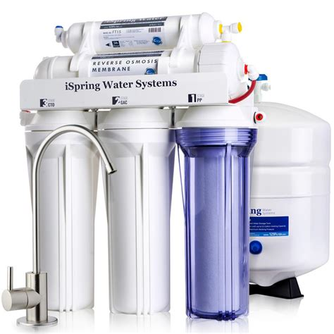 Sink Osmosis Water Filter System by Ispring Wqa Gold Seal 5 Stage With Superior Quality Filter