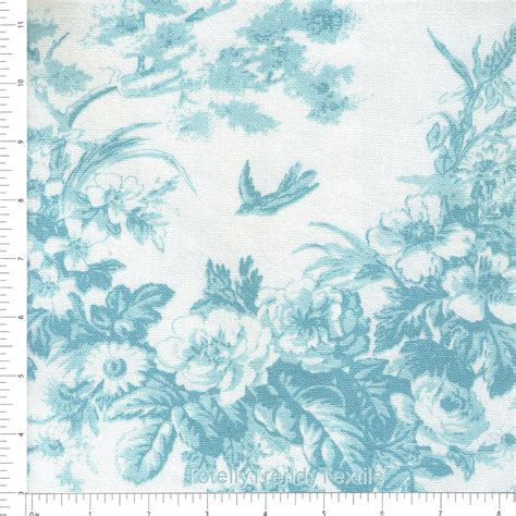 toile upholstery fabric blue toile floral upholstery fabric by the yard blue bird