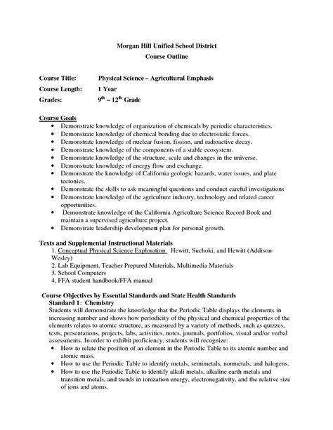 Grade 9 Science Worksheets