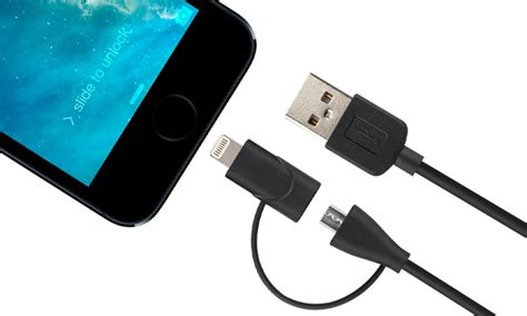 Cable Howell Usb To Micro Usb 15ma 5 ft usb to micro usb cable with mfi lightning adapter