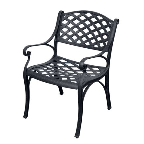 Black Patio Chair Black Aluminum Patio Chairs Aluminum Patio Chair With Black Faux Wicker Shop Allen Roth
