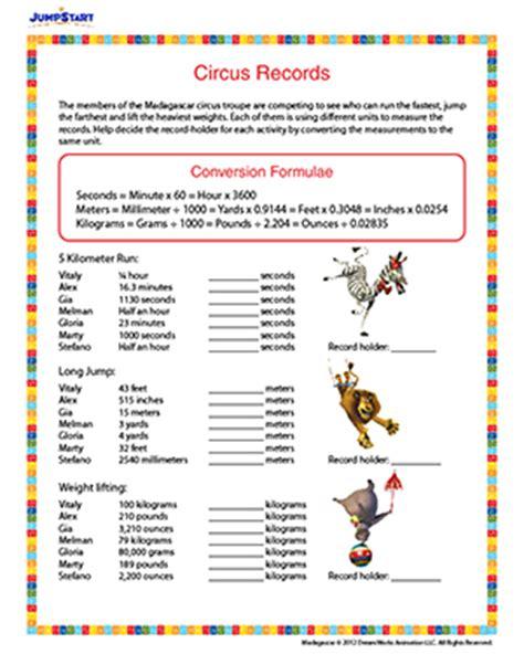 5th Grade Measurement Worksheets Printable