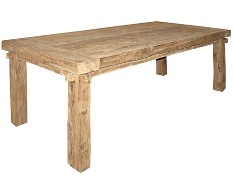 reclaimed teak dining table rustic 200 candlelight