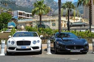 bentley continental gt maserati granturismo in monaco