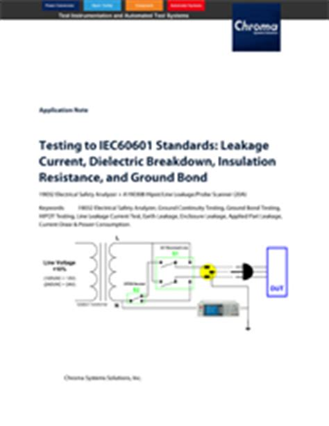 testing  iec standards leakage current dielectric breakdown insulation resistance