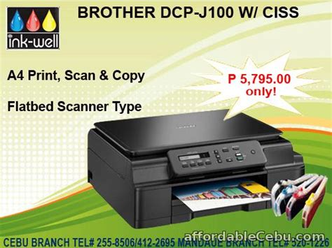 brother dcp j100 ink reset brother dcp j100 w ciss cebu ink toner well for sale