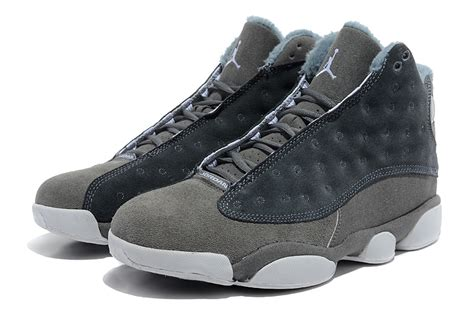 Comfortable Air Jordan 13 Wool Grey White Shoes Naj064