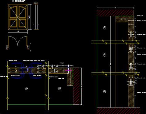 bifold door dwg detail  autocad designs cad