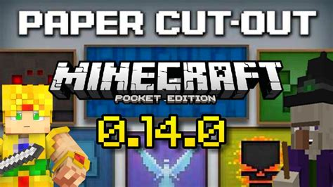 How To Make Paper In Minecraft Pocket Edition - minecraft pe 0 14 0 paper cut out texture pack