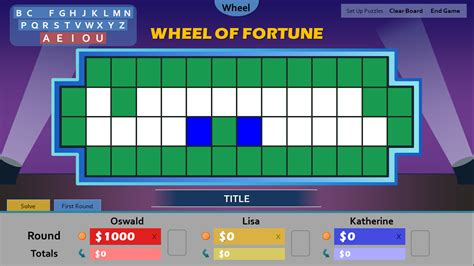 free wheel of fortune powerpoint game template images