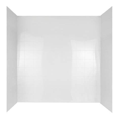 bathtub wall set 60 in x 30 in mirage bathtub wall set in white 37684