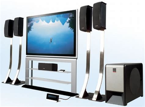 powerful home theater system with multimedia speakers