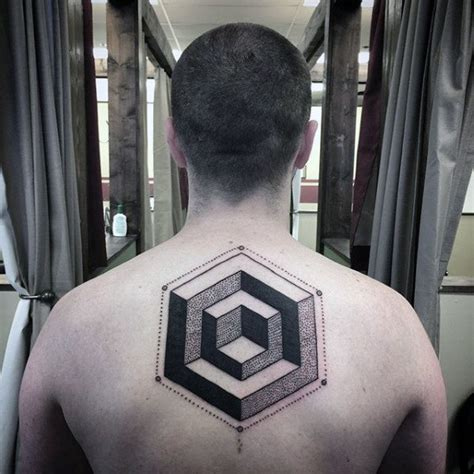 geometric illusion tattoo 100 optical illusion tattoos for men eye deceiving designs