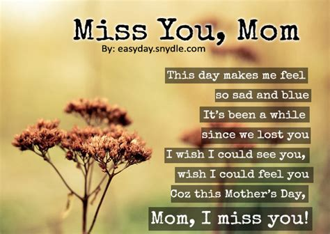 missing you on s day happy mothers day poems with images easyday