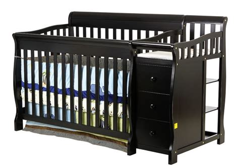 Black Convertible Baby Cribs On Me On Me 4 In 1 Brody Convertible Crib With Changer Black Baby Baby