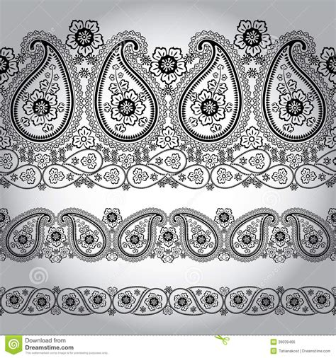 and animal motifs colorful stones applications some designers offer paisley fabric seamless border lace oriental motif stock