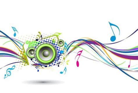 wallpaper abstrak musik abstract rainbow wave with music node background free