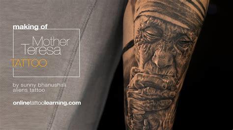 mother teresa tattoo realism timelapse of teresa