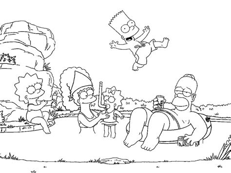 The Simpsons Coloring Pages 4 Coloring Kids The Simpsons Coloring Pages