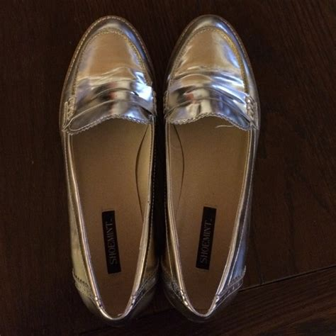 E Heels 958 1289 56 shoemint shoes gold shoemint loafers size 8 from susan s closet on poshmark