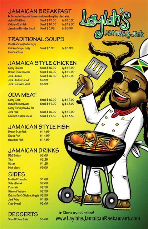 jamaican kitchen menu