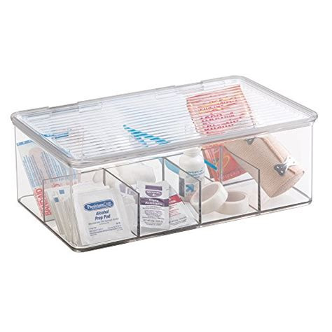 mDesign Storage Box Organizer for First Aid Kit, Medicine, Medical, Dental Supplies 8
