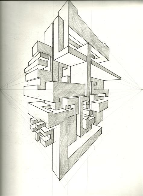 2 Point Perspective House Drawing Lesson by Simple 2 Point Perspective Drawing Drawing Sketch Picture