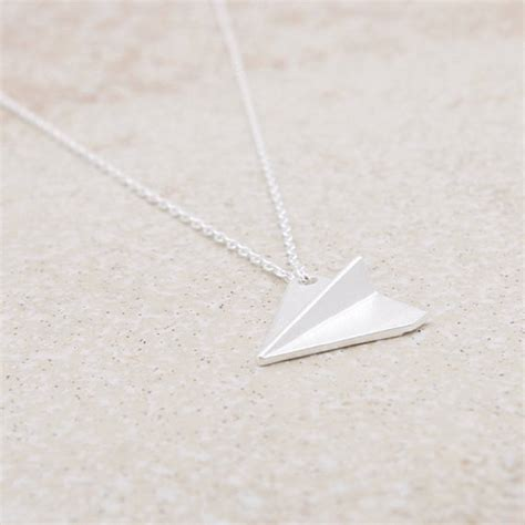 origami plane necklace by junk jewels notonthehighstreet