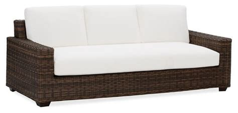 modern outdoor sofas torrey all weather wicker square sofa cushion set