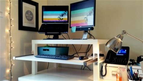 standing desk ikea lifehacker make a standing desk from an ikea lack table lifehacker australia