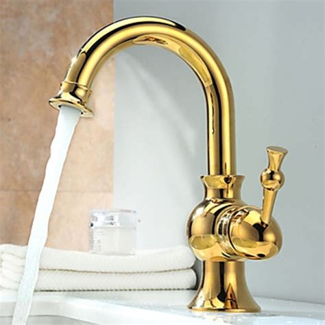 ti pvd finish solid brass bathroom sink faucet